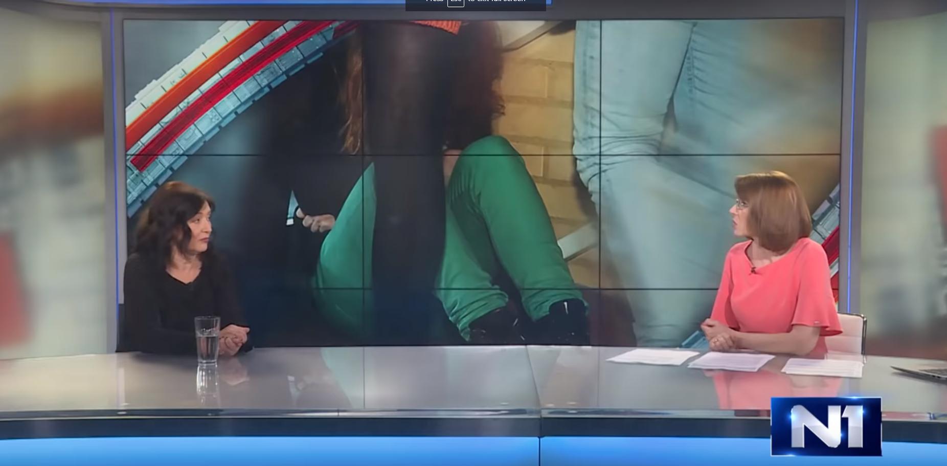 Profesorka i zamenica direktora na Visokoj školi za socijalni rad Sanja Đurđević, gost u Danu uživo na N1 televiziji