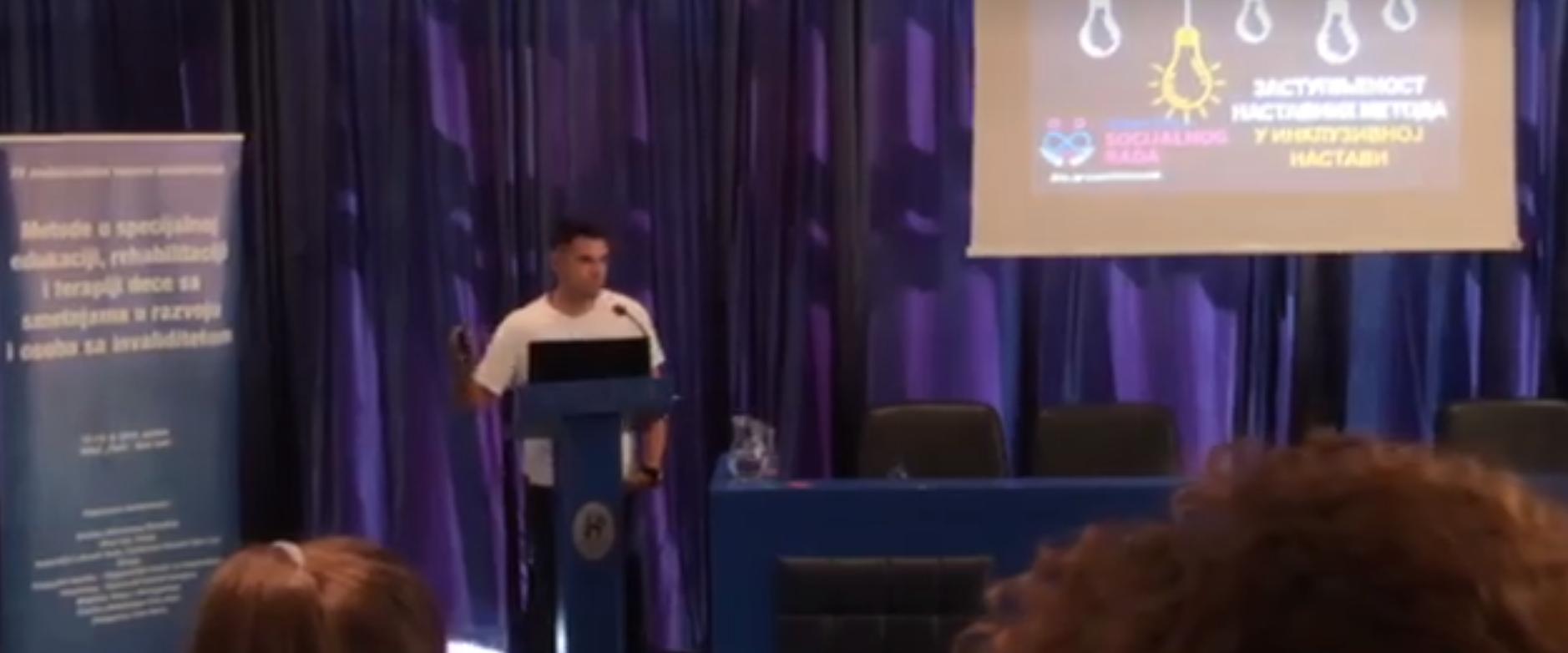 """Doc. dr Saša Stepanović na Međunarodnoj naučnoj konferenciji """"Metode u specijalnoj edukaciji, rehabilitaciji i terapiji dece sa smetnjama u razvoju i osaba sa invaliditetom"""""""