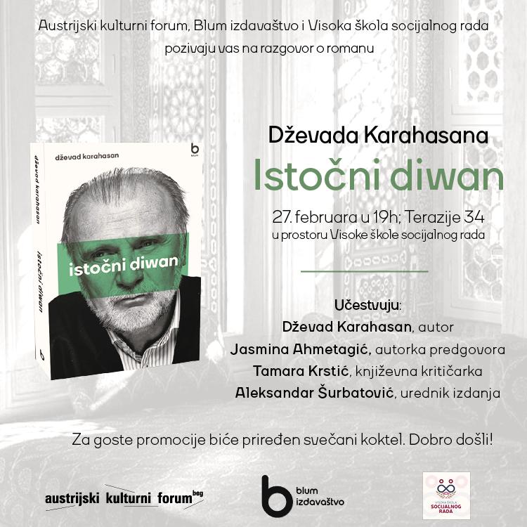 """Promocija knjige Dževada Karahasana """"Istočni diwan"""""""